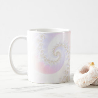Mother of Pearls Luxurious Fractal Spiral Coffee Mug