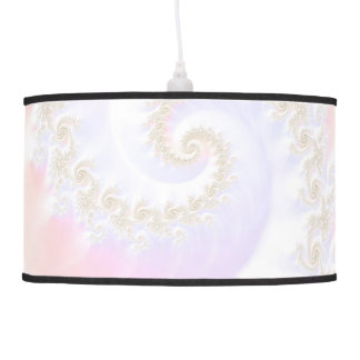 Mother of Pearls Luxurious Fractal Spiral Pendant Lamp
