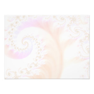 Mother of Pearls Luxurious Fractal Spiral Photo Print