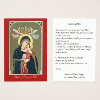 Mother of Perpetual Help Baby Jesus Holy Card