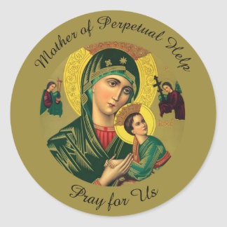 Mother of Perpetual Help with Baby Jesus Classic Round Sticker