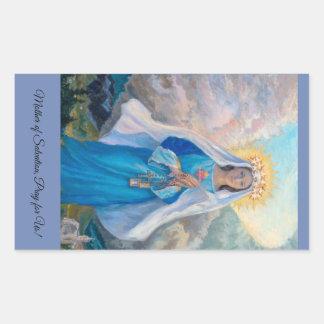 Mother of Salvation rectangular sticker