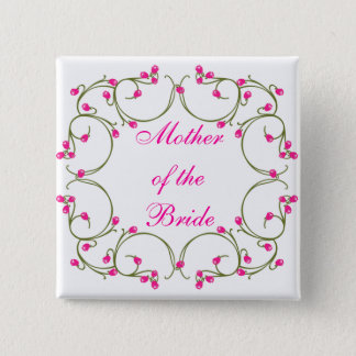 Mother of the Bride 2 Inch Square Button