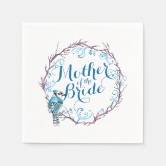 Mother of the Bride Blue Bird Wedding Napkin