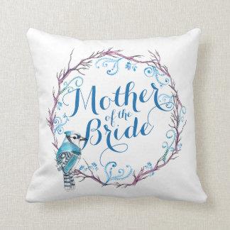 Mother of the Bride Blue Bird Wedding Pillow