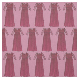 Mother of the Bride Burgundy Dress Wedding Party Fabric