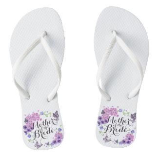 Mother of the Bride Butterflies Wedding Flip Flops