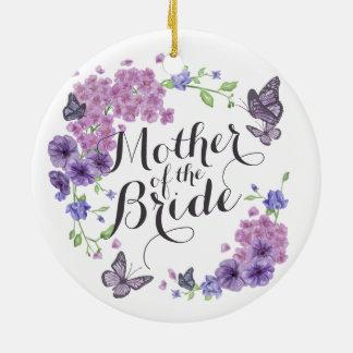 Mother of the Bride Butterflies Wedding Ornament