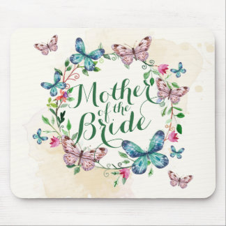 Mother of the Bride Butterfly Wreath | Mousepad