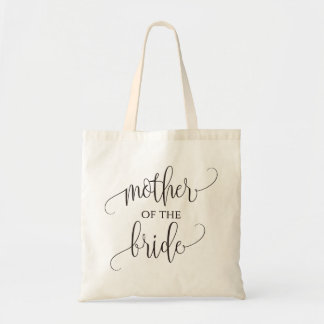 Mother of the Bride, Calligraphy, Wedding Gift Tote Bag