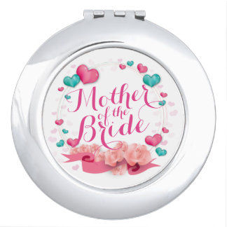 Mother of the Bride Candy Hearts Compact Mirror