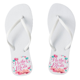 Mother of the Bride Candy Hearts Flip Flops