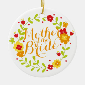 Mother of the Bride Cheerful Wreath Ornament