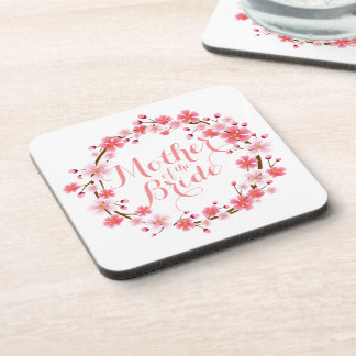 Mother of the Bride Cherry Blossom Wedding Coaster