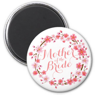 Mother of the Bride Cherry Blossom Wedding Magnet