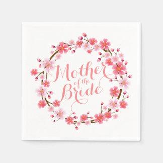 Mother of the Bride Cherry Blossom Wedding Napkin