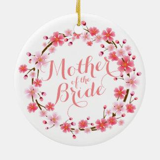 Mother of the Bride Cherry Blossom Wedding Ornamen Ceramic Ornament