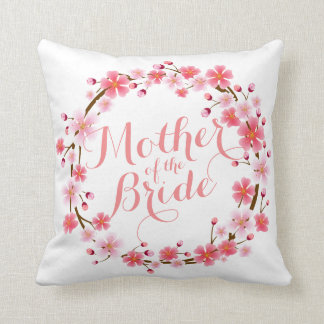 Mother of the Bride Cherry Blossom Wedding Pillow