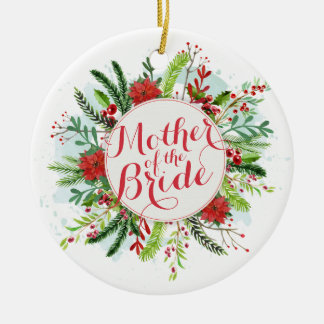 Mother of the Bride Christmas Wedding Ornament
