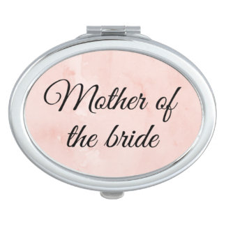 """""""Mother of the bride"""" compact mirror. Mirrors For Makeup"""