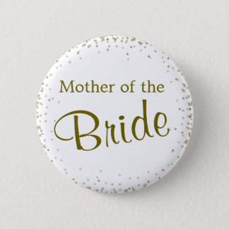 Mother of the Bride Confetti 2 Inch Round Button