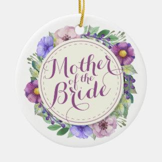 Mother of the Bride Elegant Floral Ornament