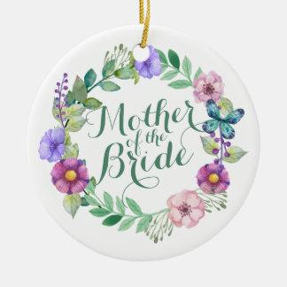 Mother of the Bride Elegant Floral Wedding Ornamen Ceramic Ornament