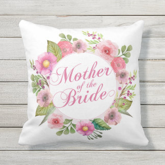 Mother of the Bride Elegant Floral Wedding Pillow