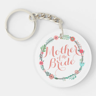 Mother of the Bride Elegant Wedding Keychain