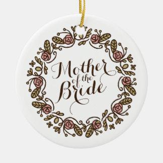 Mother of the Bride Elegant Wedding   Ornament