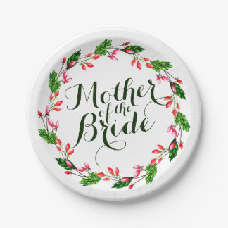 Mother of the Bride Elegant Wedding Paper Plate