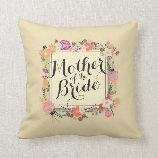 Mother of the Bride Elegant Wedding Throw Pillow