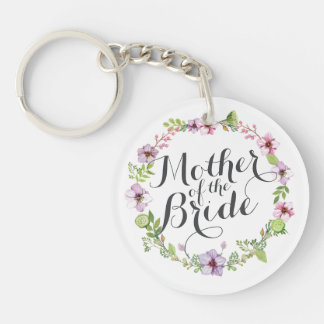 Mother of the Bride Elegant Wreath Keychain