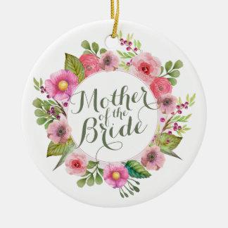 Mother of the Bride Elegant Wreath Ornament