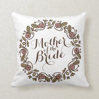 Mother of the Bride Elegant Wreath Wedding Pillow