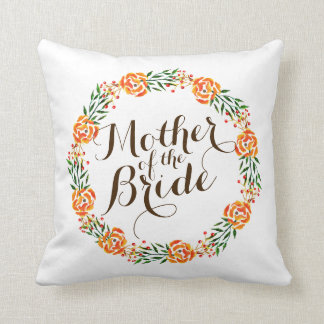 Mother of the Bride Elegant Wreath Wedding Pillow