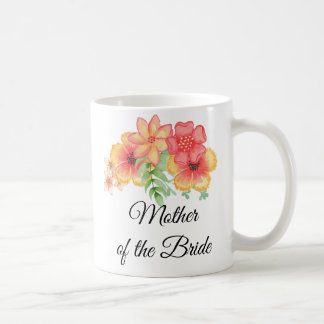 Mother of the Bride Floral Bouquet Mug