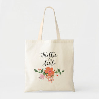 Mother of the Bride Floral Bouquet Tote Bag