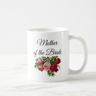 Mother of the Bride Floral Roses Bouquet Mug