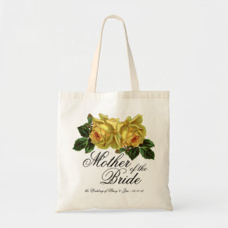 Mother of the Bride Floral Tote Wedding Favor