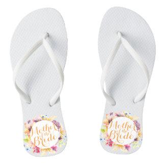 Mother of the Bride Floral Wedding Flip Flops