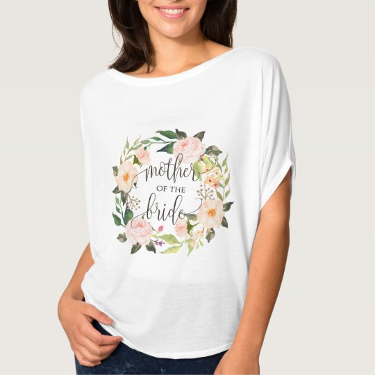 mother of the bride floral wreath -4 T-Shirt