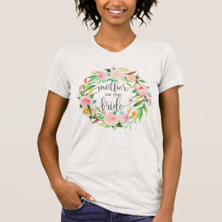 mother of the bride floral wreath -6 T-Shirt