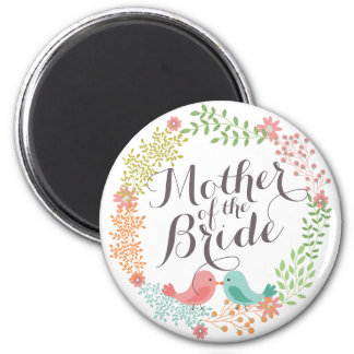 Mother of the Bride Floral Wreath Wedding Magnet