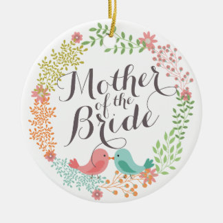 Mother of the Bride Floral Wreath Wedding Ornament