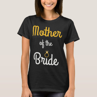 Mother of the Bride Gold Bling Tee Shirt