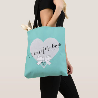 Mother of the Bride Heart Bridal Gift Tote Bag