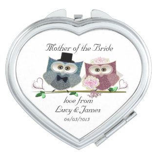 Mother of the Bride Heart Compact Mirror