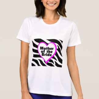 Mother of the Bride (Heart Zebra Print) T-Shirt