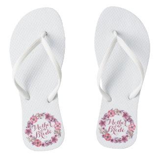 Mother of the Bride Pink Floral Wedding Flip Flops